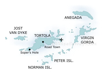 British Virgin Islands map Virgin Gorda